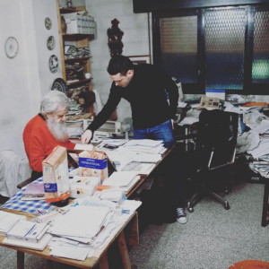 Con Jesús Lizano |Foto: Víctor Fernández