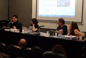 Presentación del posgrado internacional 'Escrituras' (FLACSO), junto a Olga Jornet, Carlos Skliar y Violeta Serrano. Buenos Aires, 2013