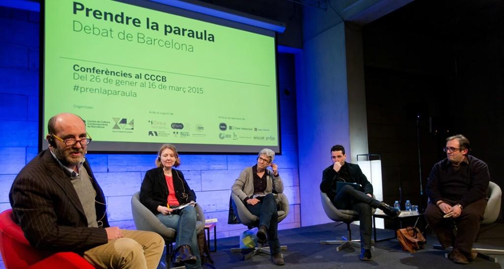 Con Emili Manzano, Isabella Gresser, Fina Birulés, y Manel Ollé | Foto: CCCB